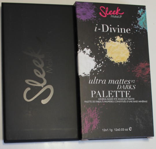 sleek palette paleta ultra matte darks